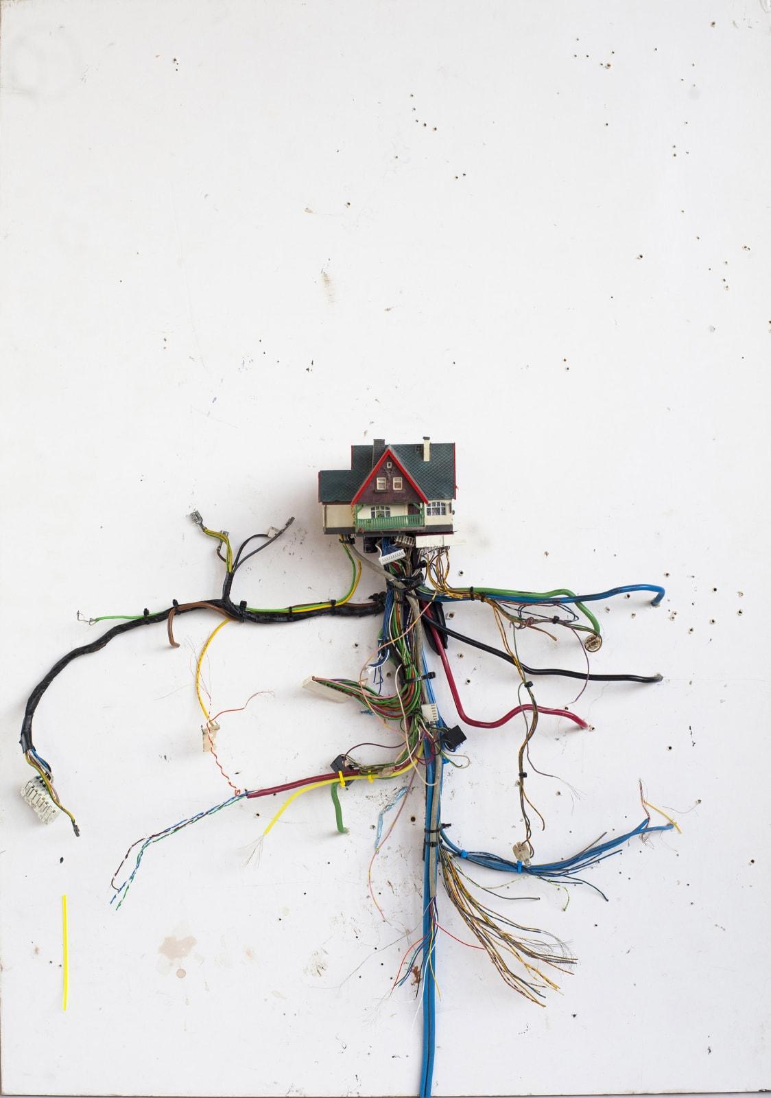 Kristof Kintera, How life works, 2018, mixed media cm 103 x 73