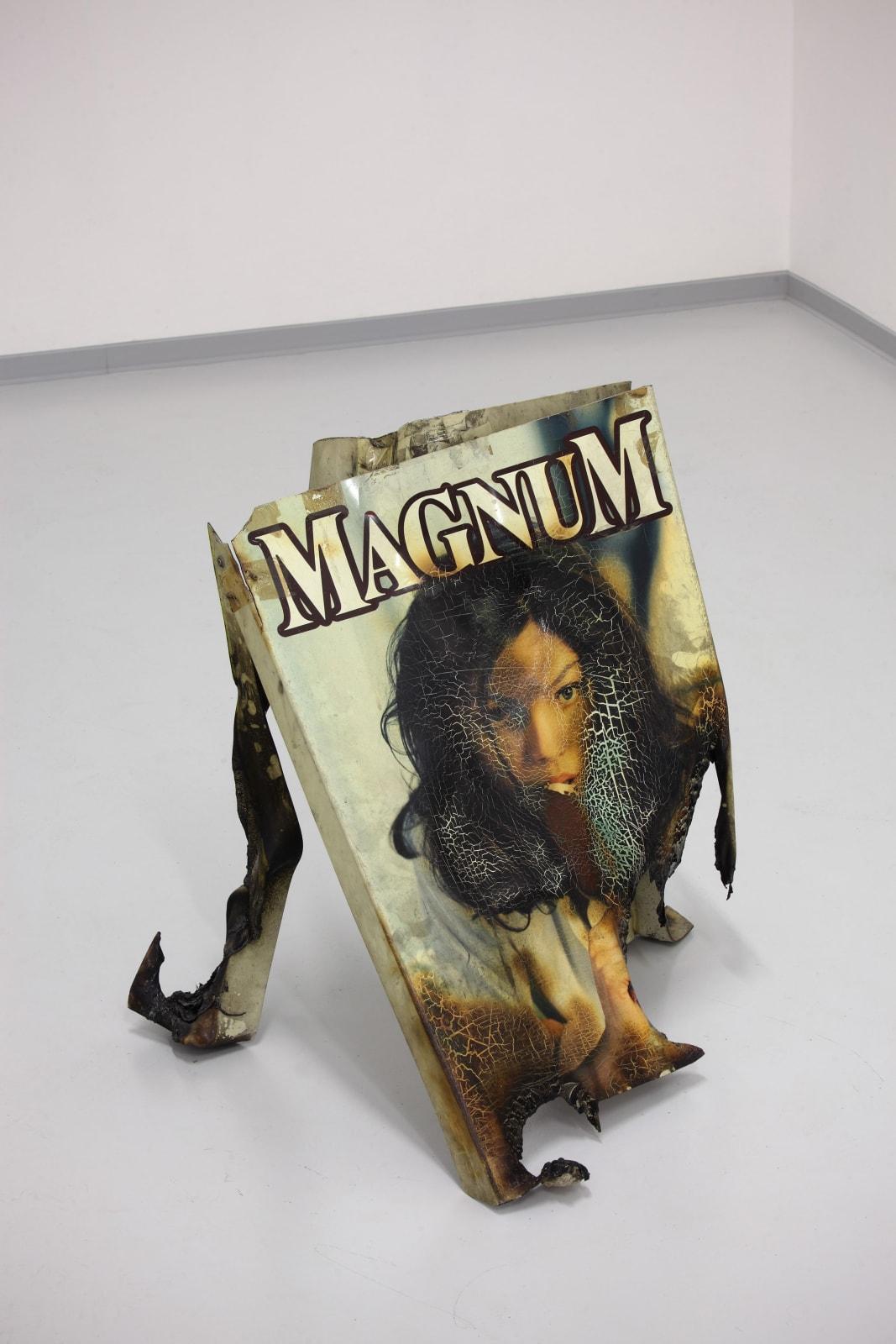 Kristof Kintera, Magnum Gioconda, 2011, plastic placard, cm 50 x 90 x 50