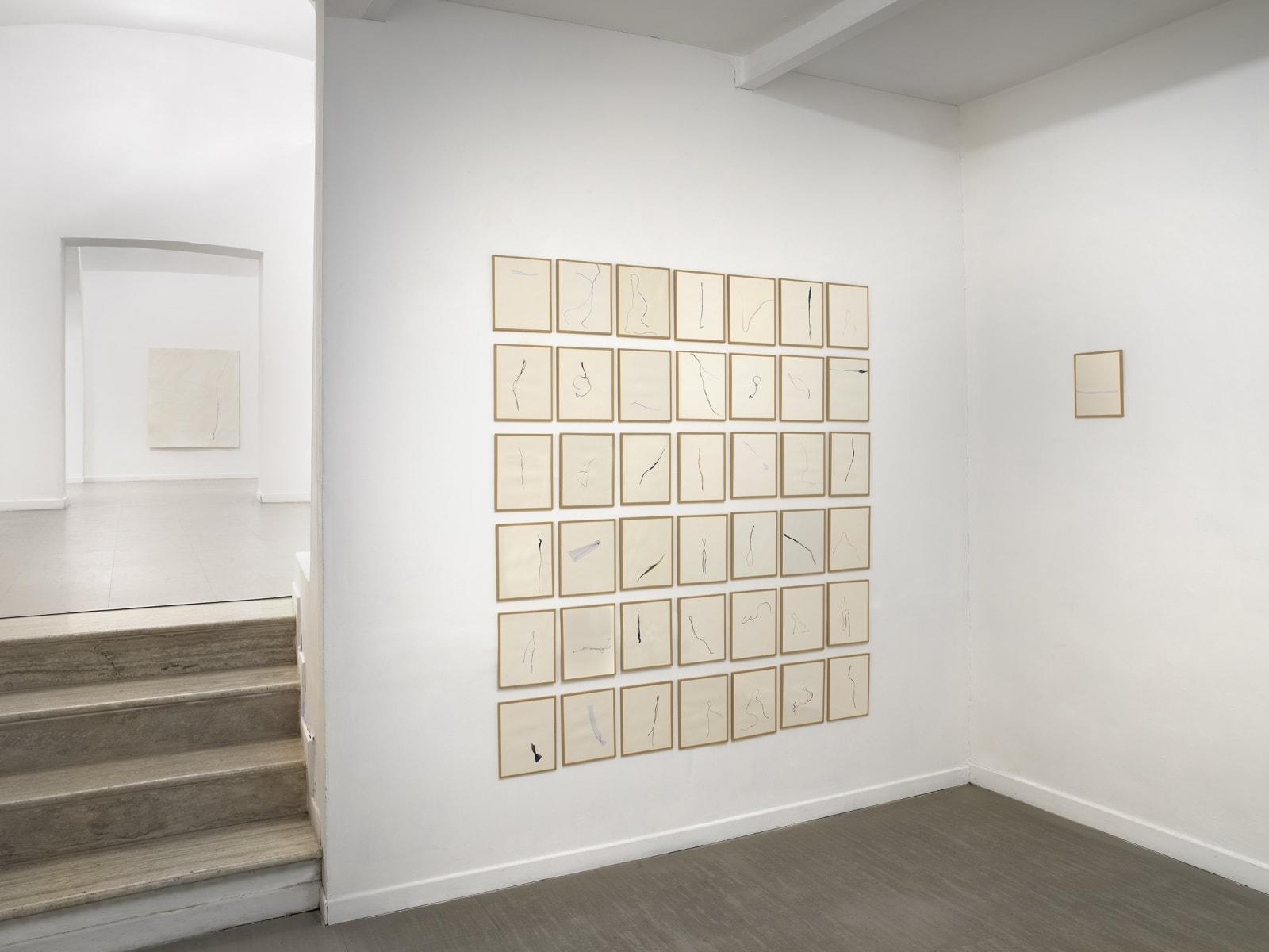 Beatrice Pediconi Nude curated by Cecilia Canziani installation view of the first room ph. Dario Lasagni