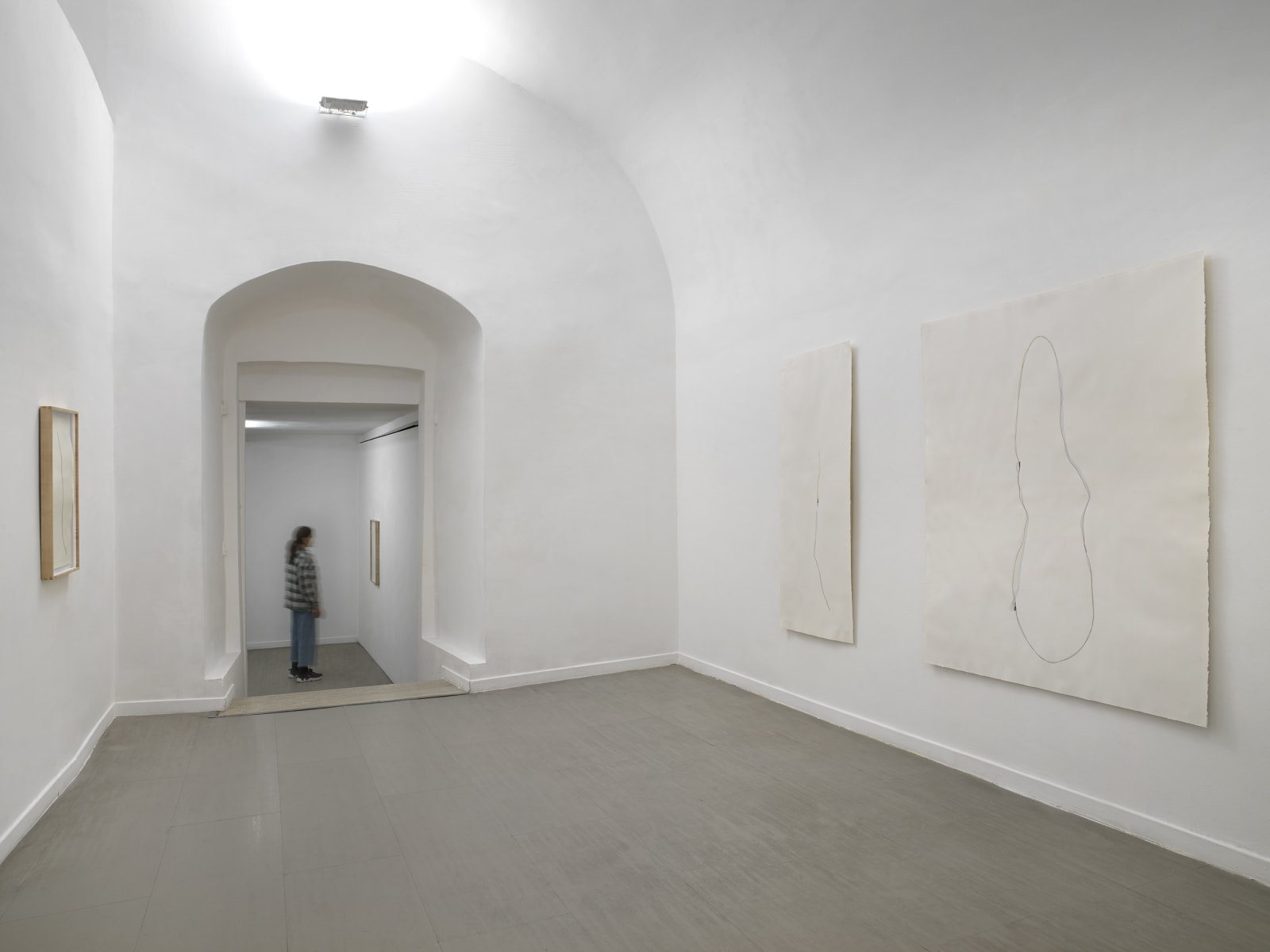 Beatrice Pediconi Nude curated by Cecilia Canziani installation view of the first and second room ph. Dario Lasagni