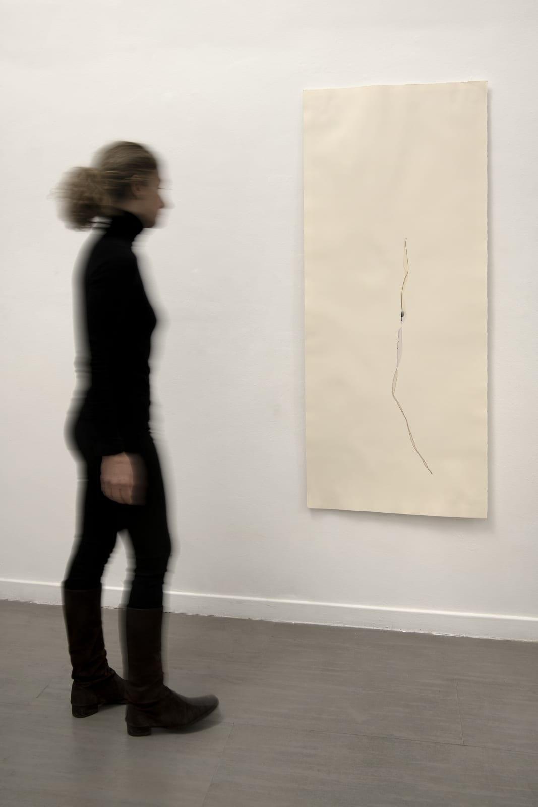 Beatrice Pediconi Untitled #24, 2020 Emulsion lift on paper cm 160 x 65