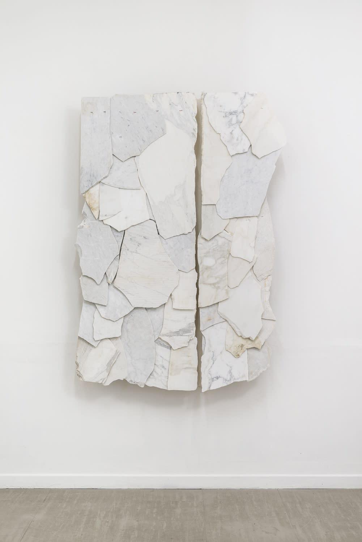 Fabrizio Prevedello Luogo (280), 2019 steel, color, plaster, marble, copper cm 147 x 109 x 19 Ph. Sebastiano Luciano