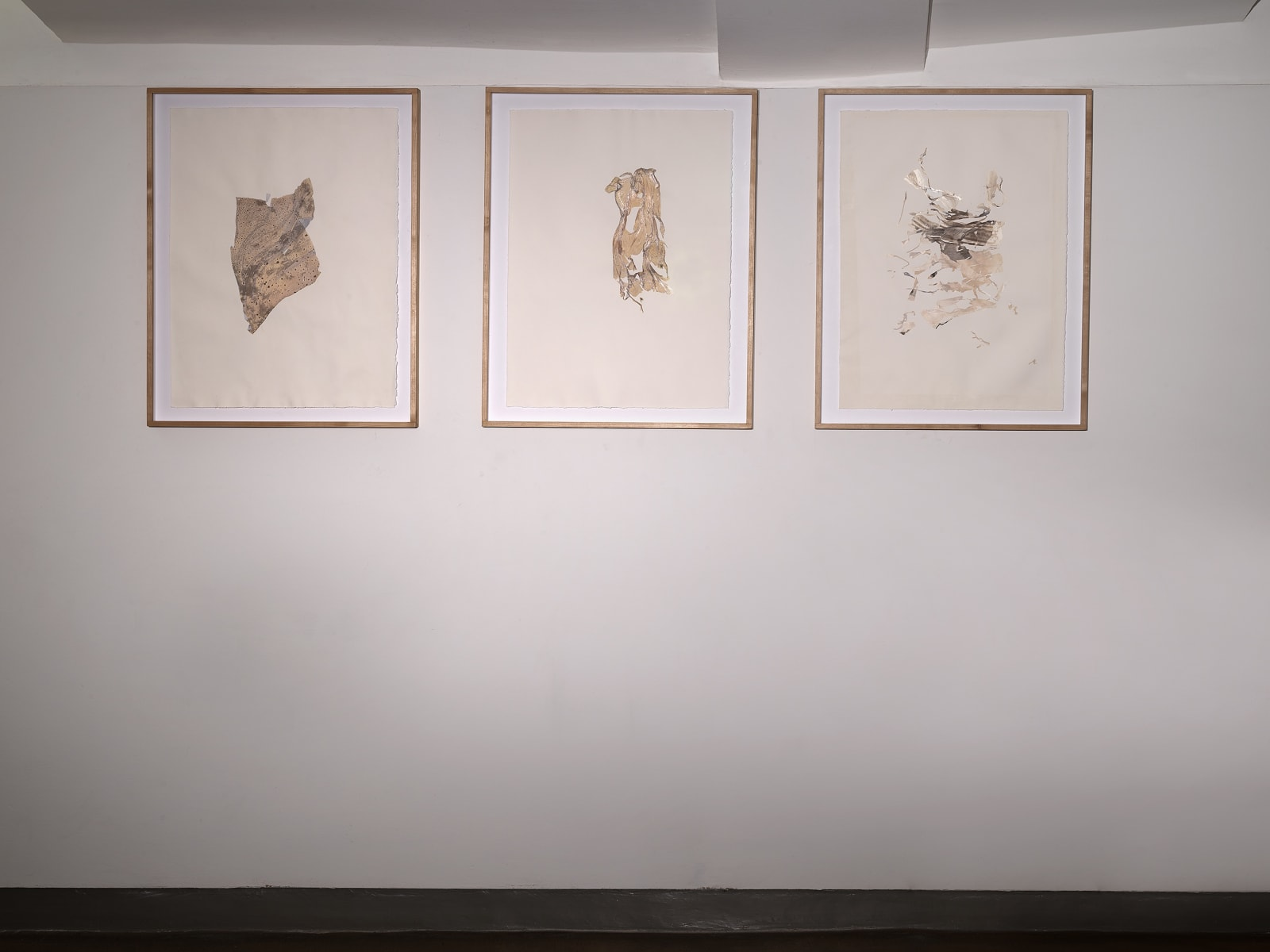 Beatrice Pediconi Anamnesis series, 2018-2019 Mixed media on watercolor paper Cm 66 x 50, cm 75 x 59 x 4 framed (each)