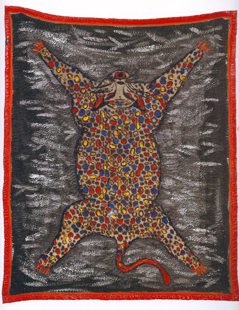 Leda Catunda Onça, 1984 acrilica sobre cobertor 192 x 160 cm
