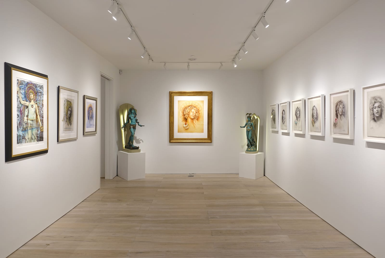 Installation view: Audrey Flack: Master Drawings from Crivelli to Pollock