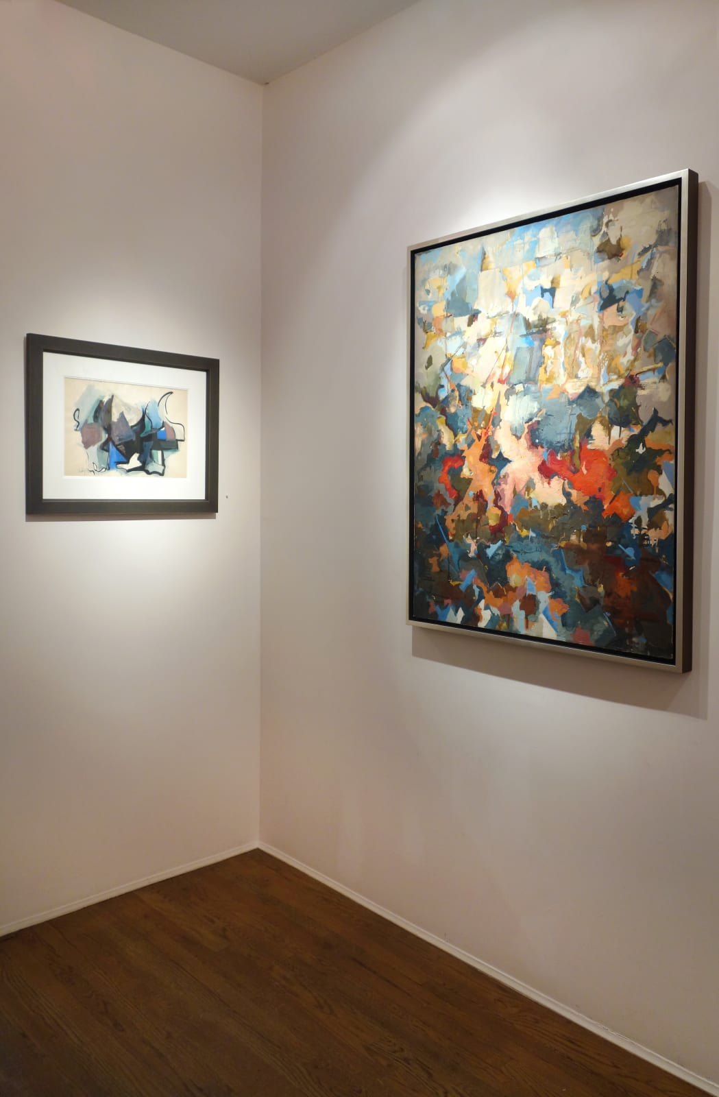 Installation view: Audrey Flack: The Abstract Expressionist Years