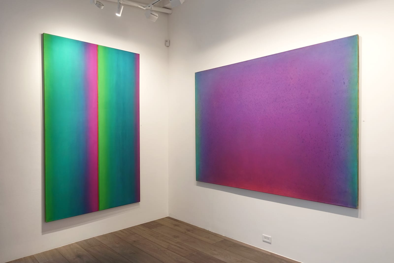 Installation view: Thresholds of Perceptibility: The Color Field Paintings of Leon Berkowitz
