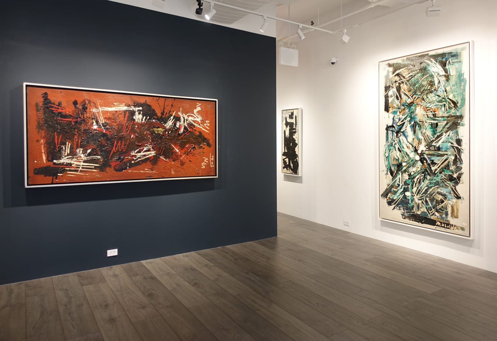 Installation view: Space Poetry: The Action Paintings of Michael West