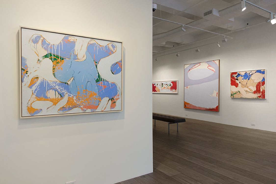 Installation view: Norman Bluhm: The '70s