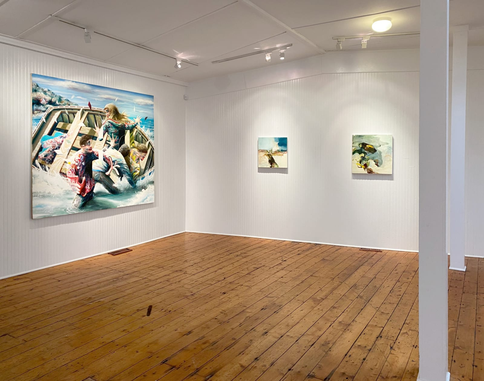 Installation view: A Way of Feeling: Thomas Agrinier, Hollis Heichemer, and Anna Pietrzak