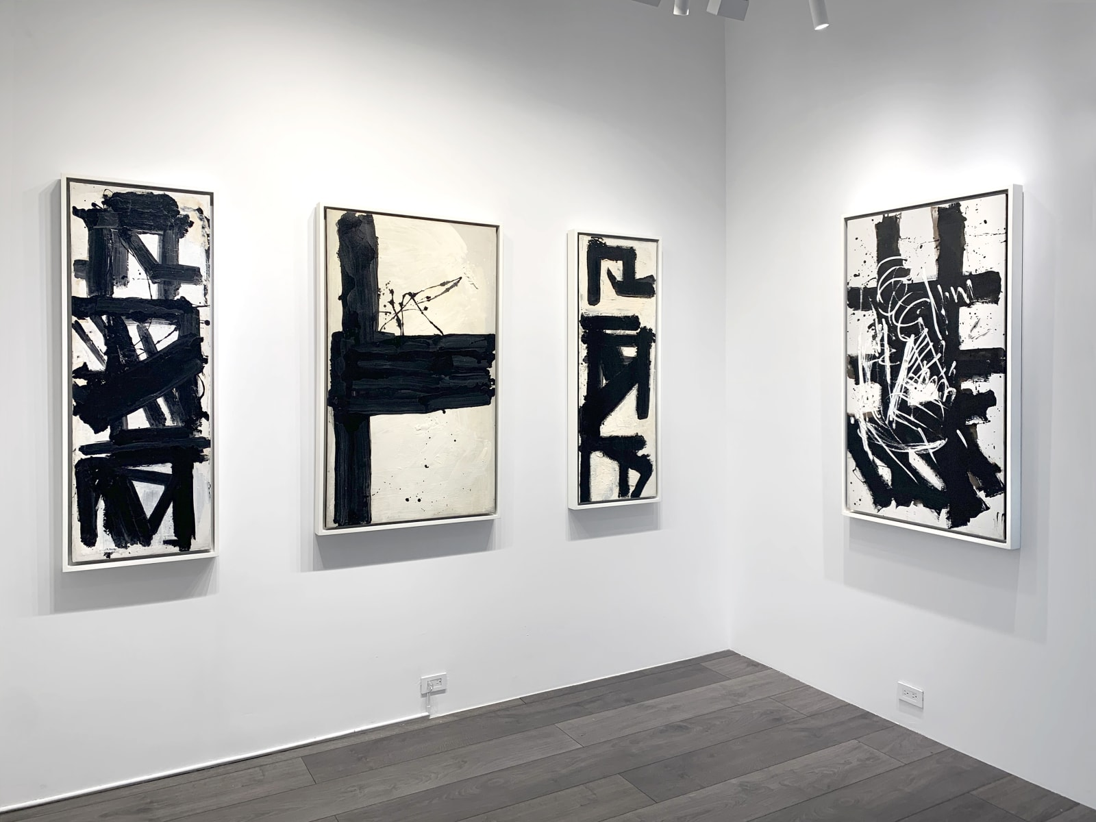 Installation view: Epilogue: Michael West's Monochrome Climax