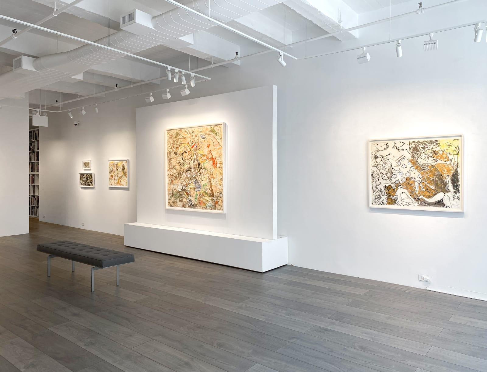 Installation view: Knox Martin: Homage to Goya