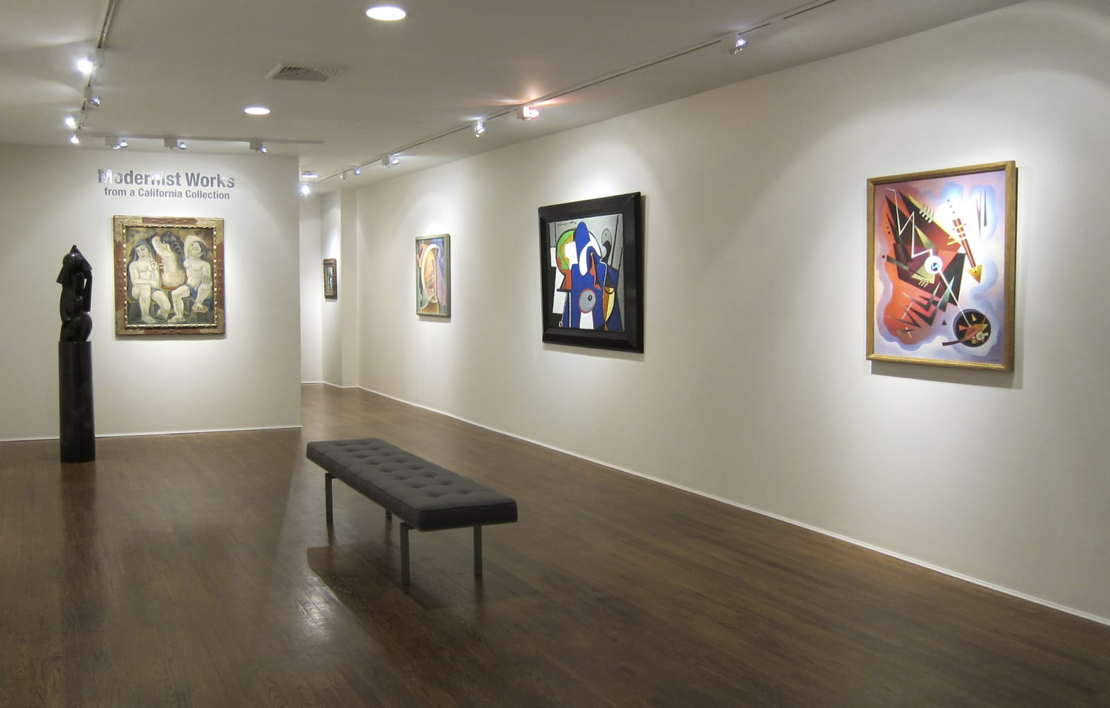 Installation view: Modernist Works from a California Collection