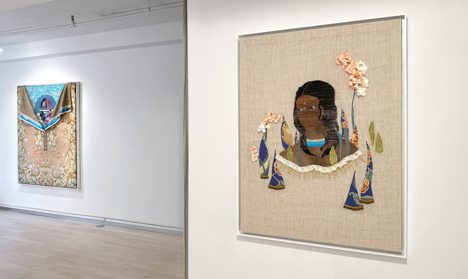 Installation view: History Reclaimed: Suchitra Mattai and Adrienne Elise Tarver