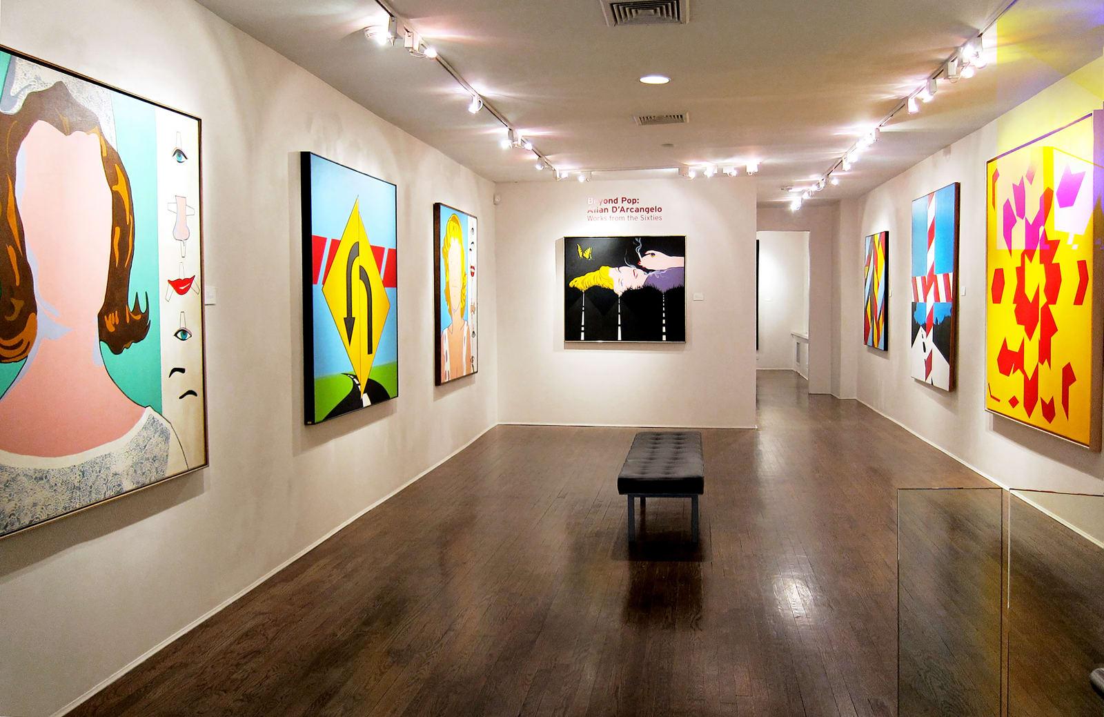Installation view: Beyond Pop: Allan D'Arcangelo