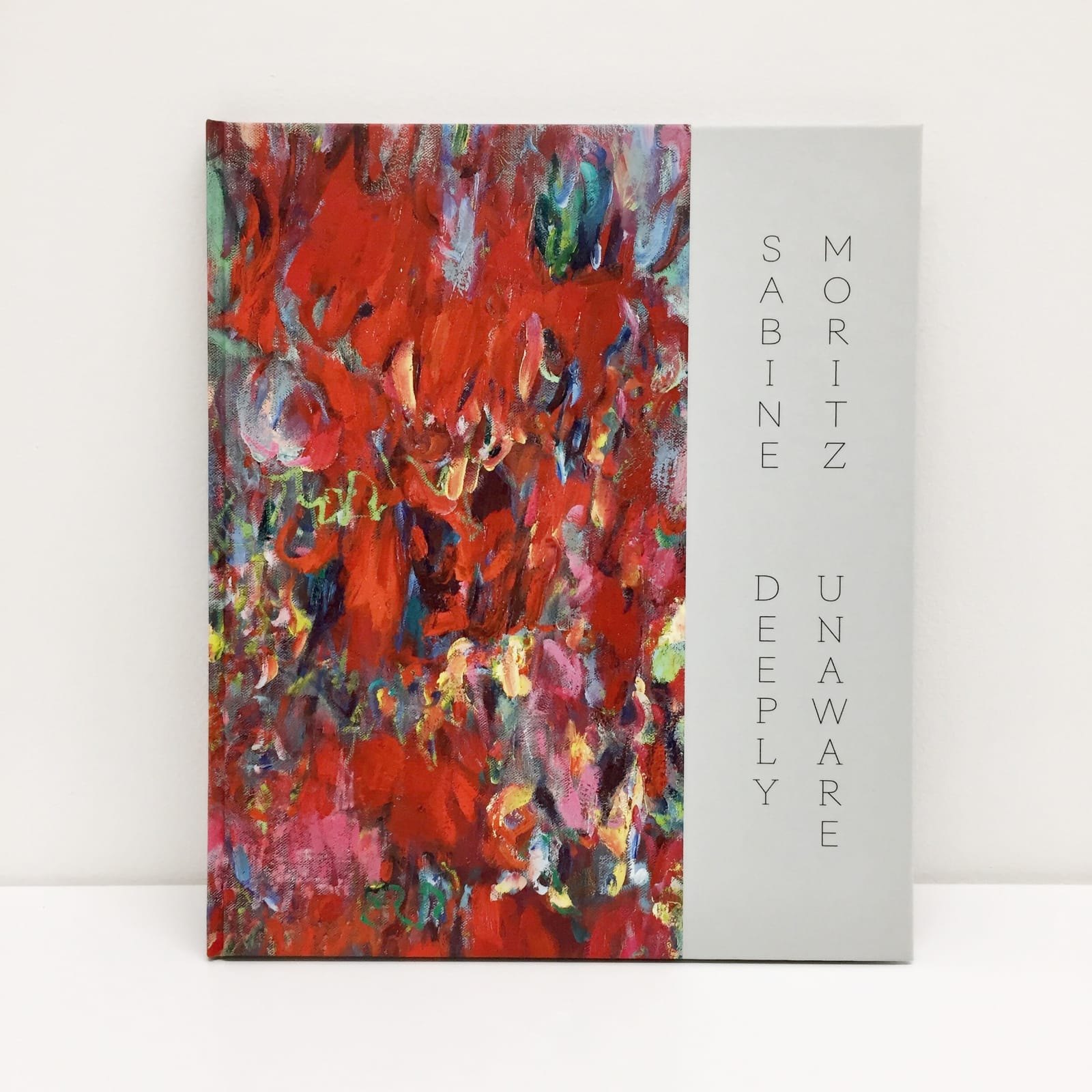 Catalogue cover depicting a Sabine Moritz abstract painting, titled Sabine Moritz Deeply Unaware.