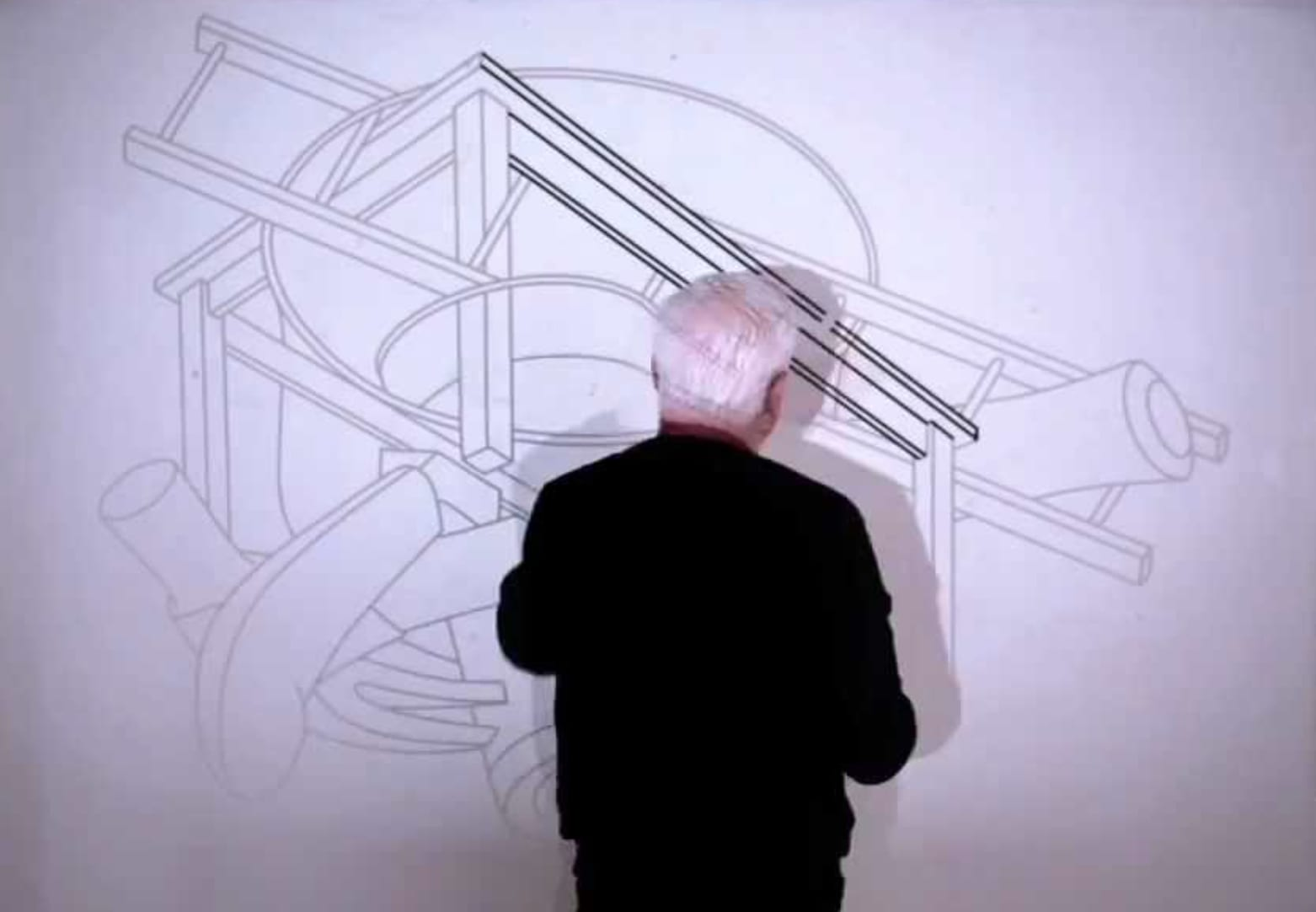 "Michael Craig-Martin's ""Drawings"": Installation Timelapse video still frame"