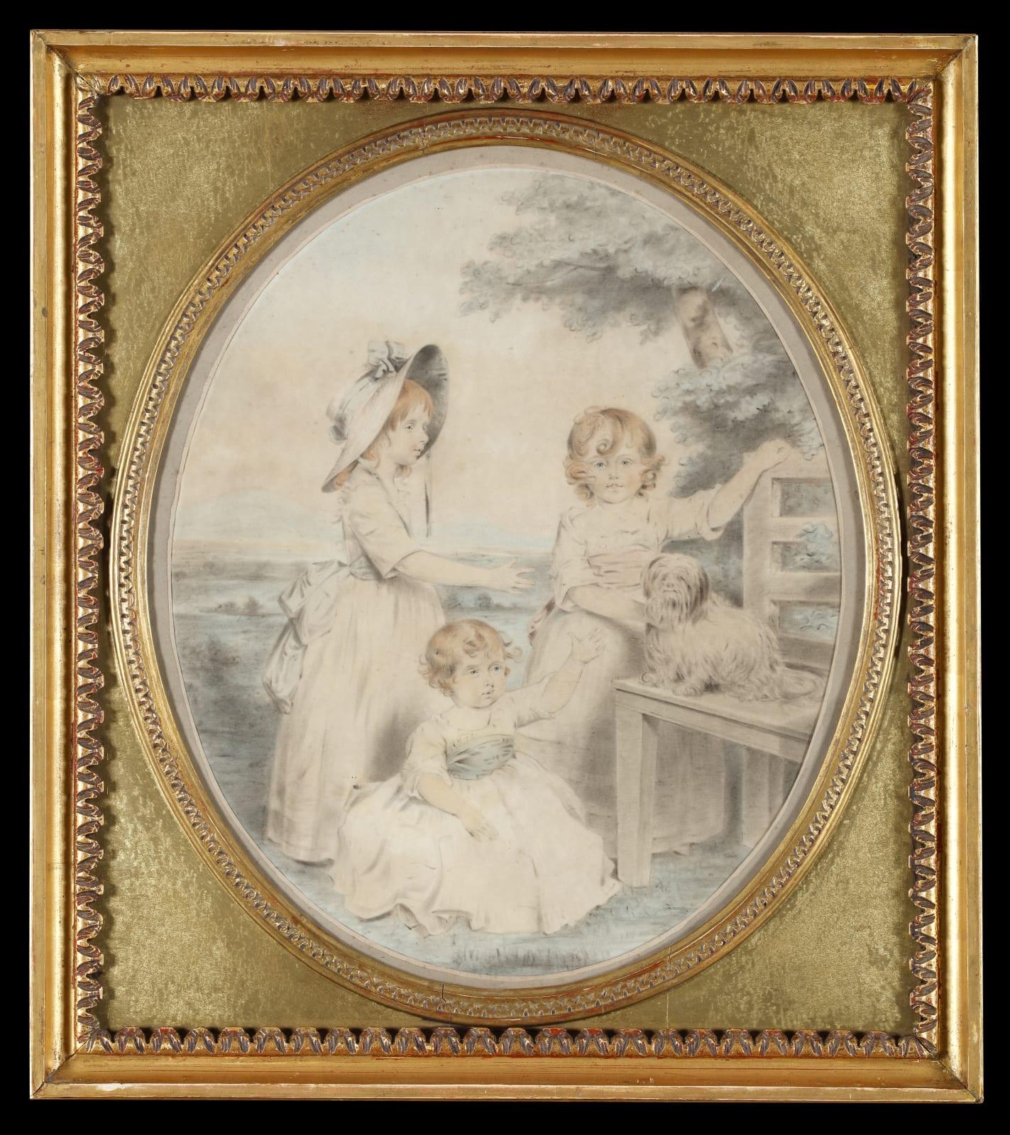 (Fig. 4) John Downman The daughters of the 7th Earl of Cavan 1788