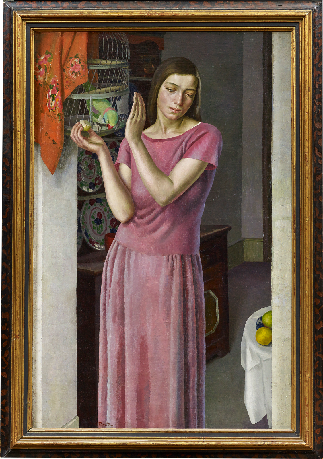 [Fig. 3] Dod Procter Girl with a Parrot c.1925