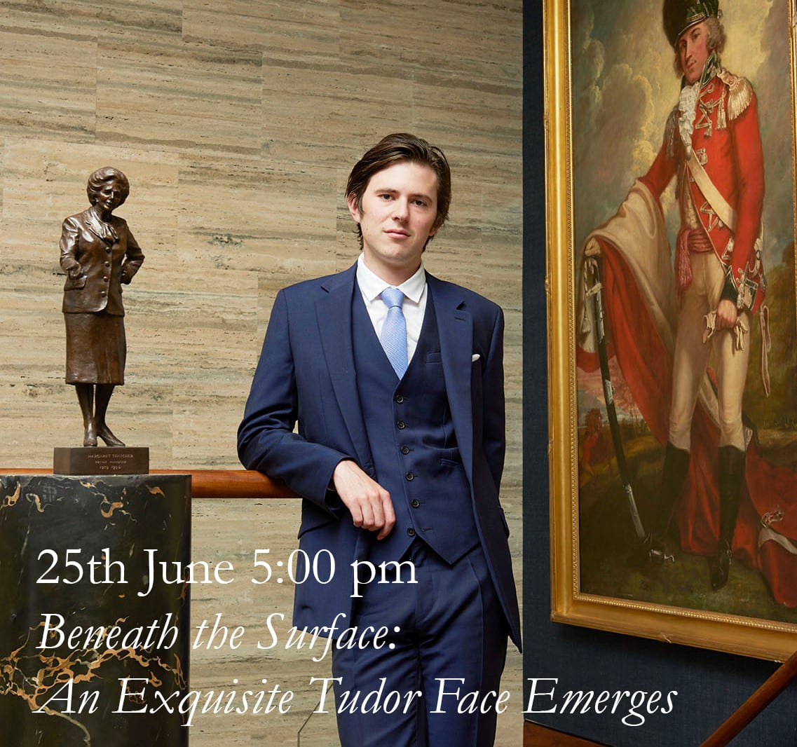 Occasionally, pictures survive in such good condition that they appear almost disarmingly fresh and modern, so attuned is our eye to looking at works damaged by dirt, abrasion and neglect. In this talk, Lawrence Hendra, Head of Research at Philip Mould and Company, will discuss an exceptional 16th century portrait, attributable to the Master of the Countess of Warwick, which represents one of the finest small panel portraits of the period.