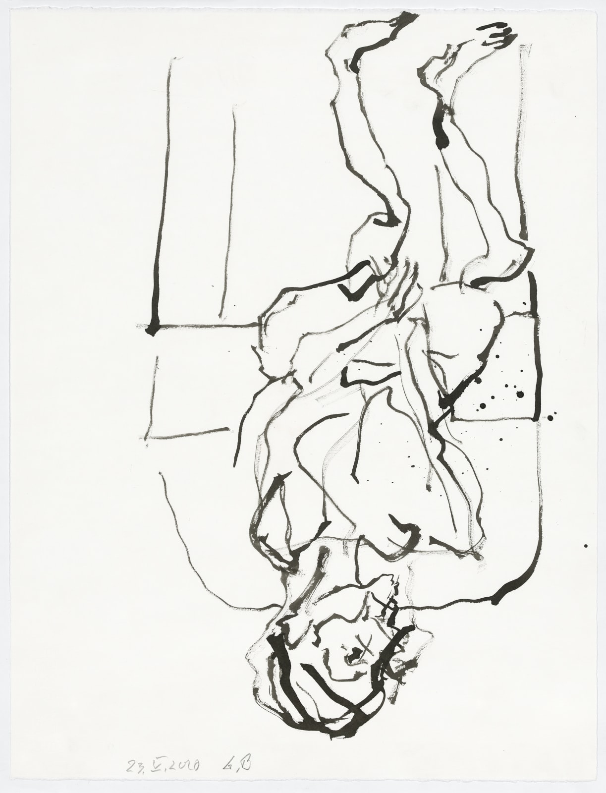"""<a href=""""/content/feature/630/detail/artworks12501/"""" class=""""pageload-link-type-popup-enabled-content""""><div class=""""artist"""">Georg Baselitz</div><div class=""""title_and_year""""><span class=""""title"""">Untitled</span><span class=""""year"""">, 2020</span></div><div class=""""medium"""">India ink on paper</div><div class=""""dimensions"""">66.2 x 50 cm (26.1 x 19.7 inches)</div></a>"""