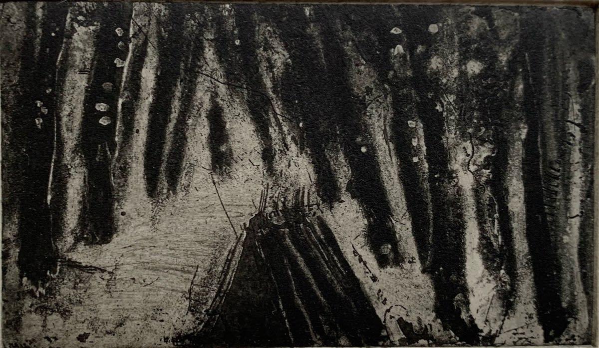 Flora McLachlan, Fairy Tale, 4 etchings: Arrive, 2020
