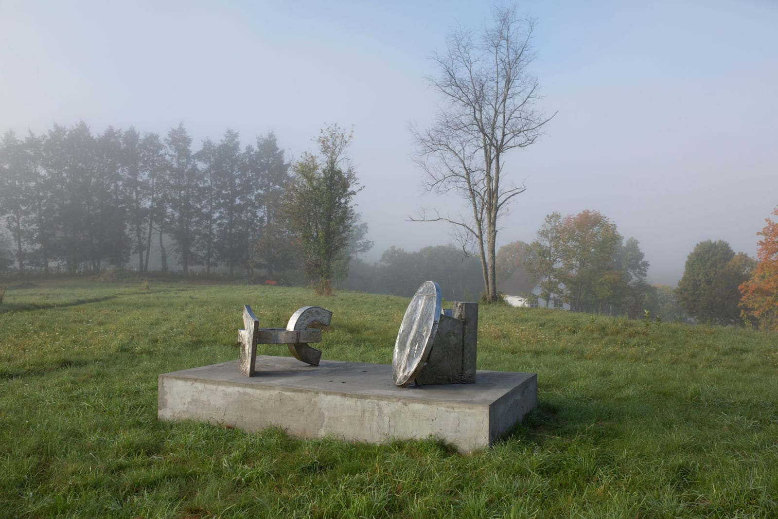 """<div class=""""additional_caption"""">'Ukpo. Edo', 1992/1996. Stainless steel. Overall: 97.8 x 256.5 x 148.6cm (38 1/2 x 101 x 58 1/2in)</div>"""
