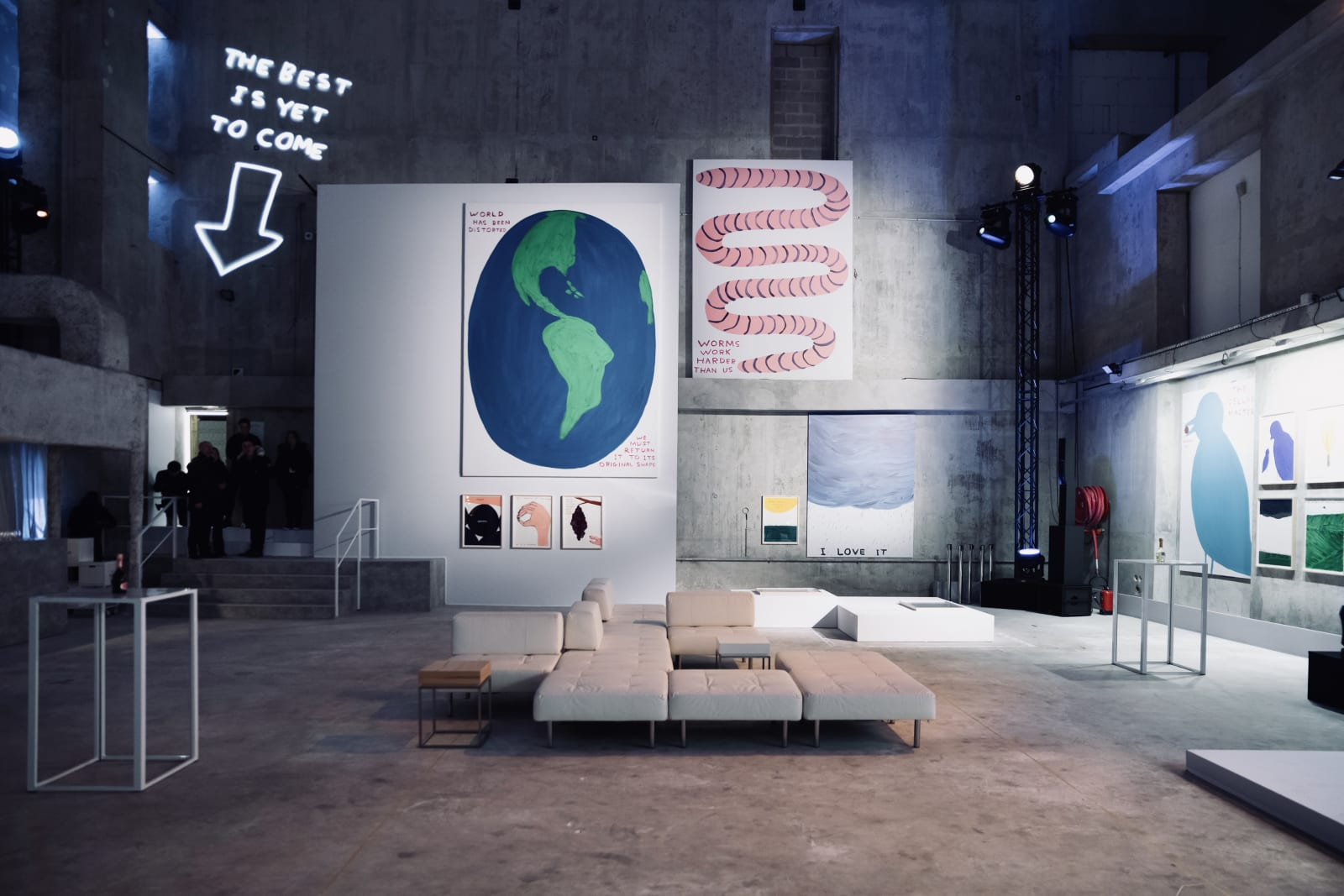 <p>Opening event, 'Unconventional Bubbles: An artistic reinterpretation of Maison Ruinart by British artist David Shrigley', Paris (2020).</p>