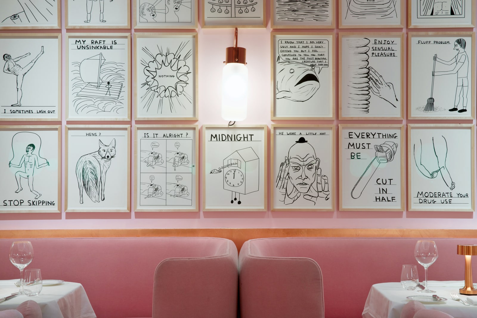 <p>Installation view:'David Shrigley', Sketch, London (2014–2018).</p>