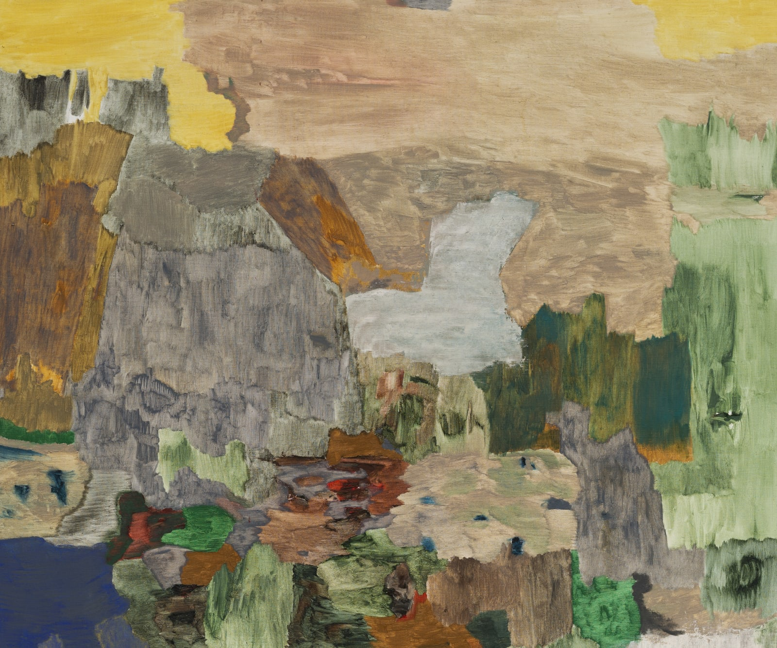 "<p>Andreas Eriksson, <em>Passage</em>, 2017 - 2020. Detail.</p><h3>""Territories of the finished tapestries might be distinguished by a particular knotted texture or the stands of long fibre sprouting from the surface. Andreas has described the tapestries as 'existential landscapes'. We might also see them as a conceptual extension of painting in which the picture migrates to the canvas itself."" </h3><p><strong>- Hettie Judah on Andreas Eriksson, 2020</strong></p>"