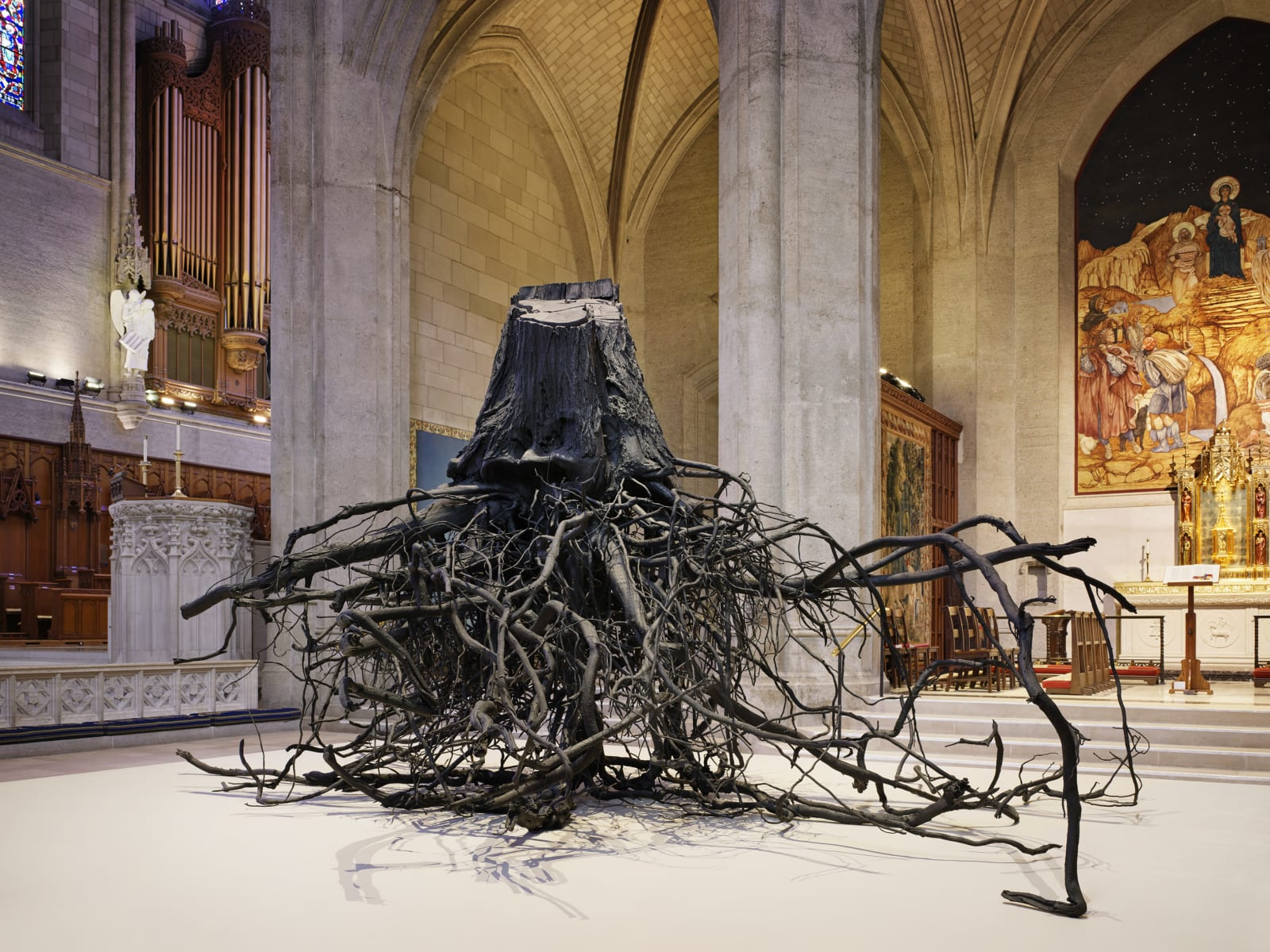 <p>Installation view: 'Unearthed', Grace Cathedral, San Francisco, California (2019)</p>