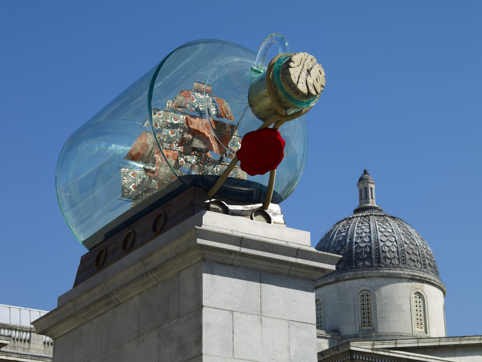 <p>Installation view:<i></i><i>Nelson's Ship in a Bottle</i>, Fourth Plinth Commission, Trafalgar Square, London (2010-2012)</p>