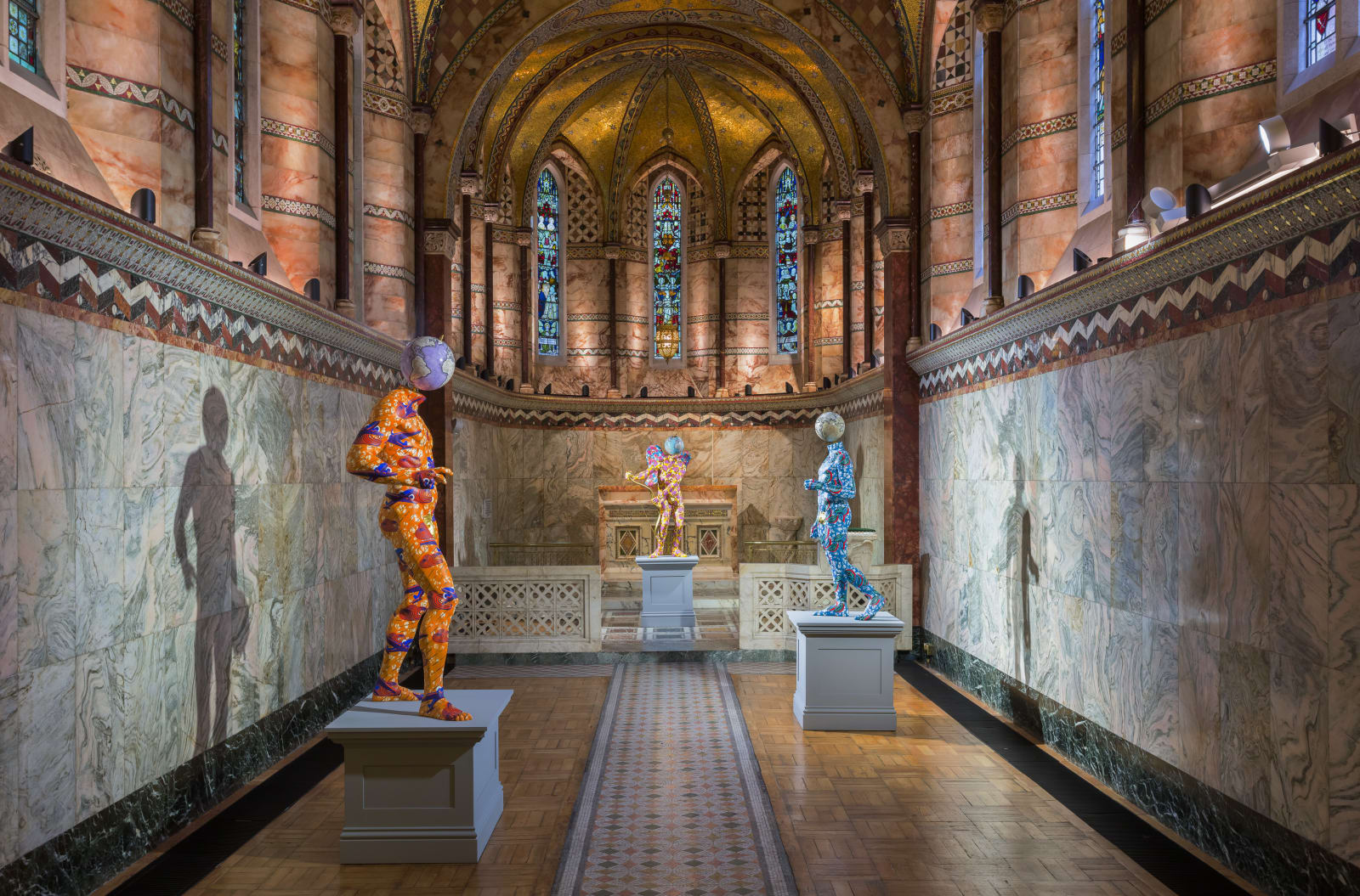<p>Installation view: 'Yinka Shonibare MBE', Fitzrovia Chapel, London (2018)</p>