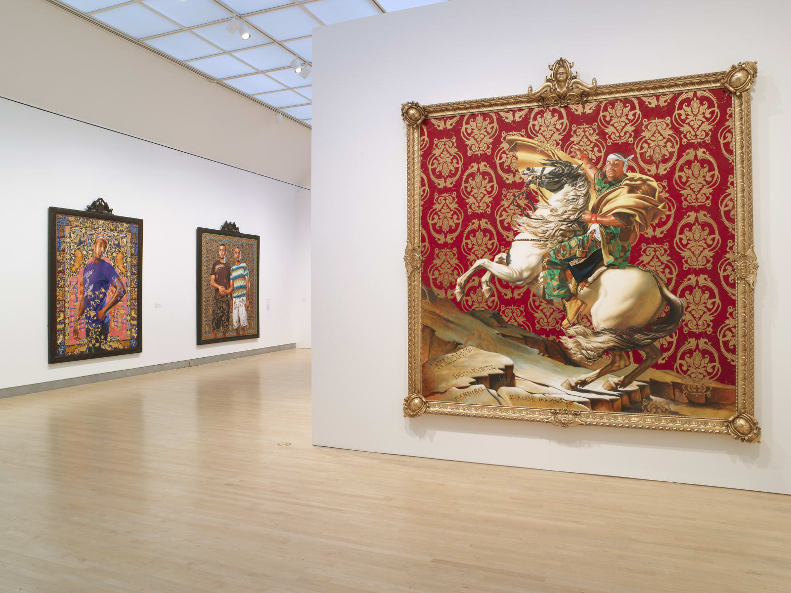 <p>Installation view: 'Kehinde Wiley: A New Republic', Brooklyn Museum, New York, NY (2015)</p>