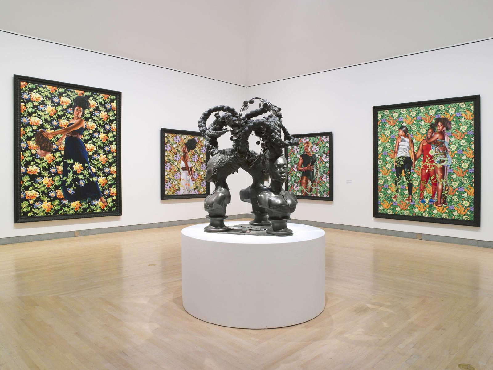 <p>Installation view: '<span>Kehinde Wiley: A New Republic', Brooklyn Museum, New York, NY (2015)</span></p>