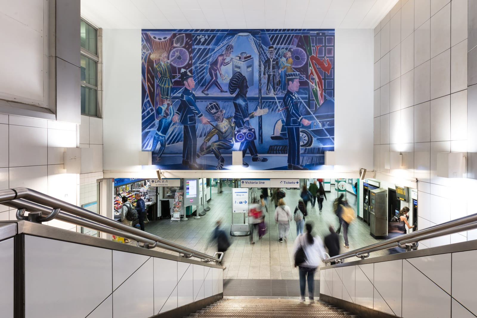 <p>Installation view: '<span>Brixton Blue', TFL Commission, Brixton Underground Station, London (2019).</span></p>