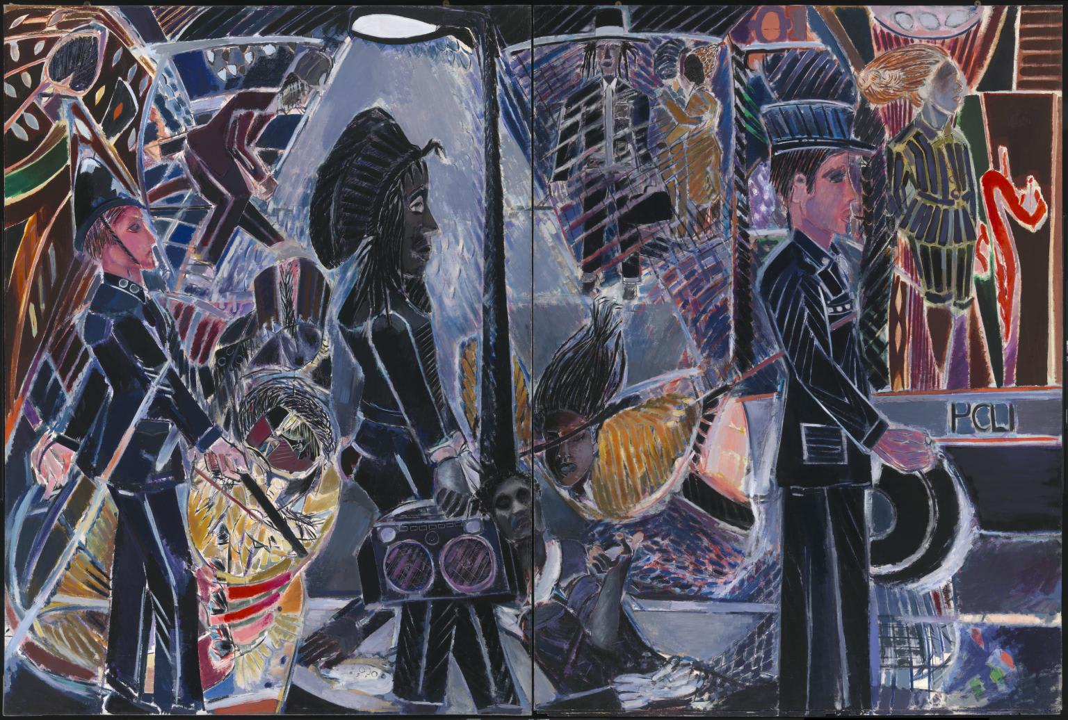 <p>Denzil Forrester, 'Three Wicked Men', 1982, Tate Collection, UK.</p>