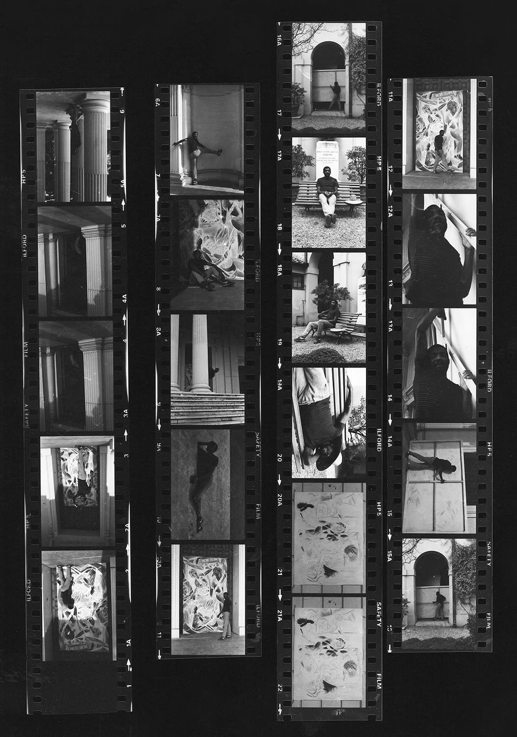 <p><span>Contact prints from Denzil Forrester's time in Rome (1984).</span></p>