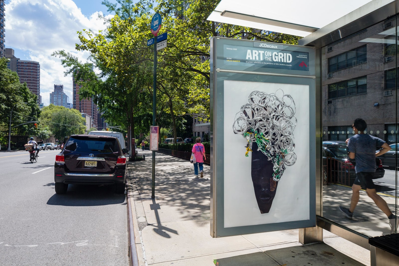 <p>Installation view: 'Art on the Grid', Public Art Fund, New York, NY (2020).</p>
