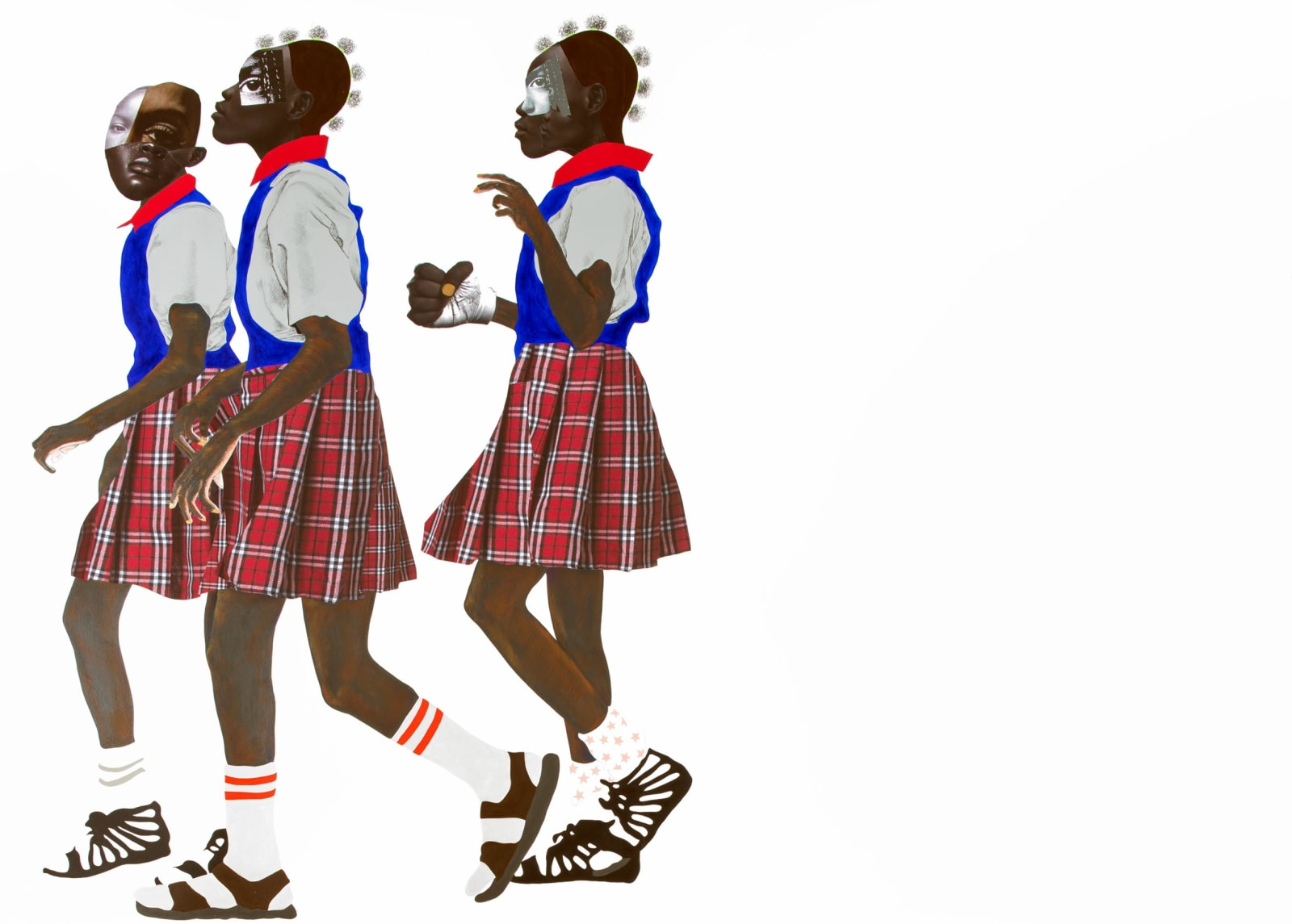 <div>Deborah Roberts, 'We are soldiers', 2019, Collection of the MFA Boston, MA.</div>