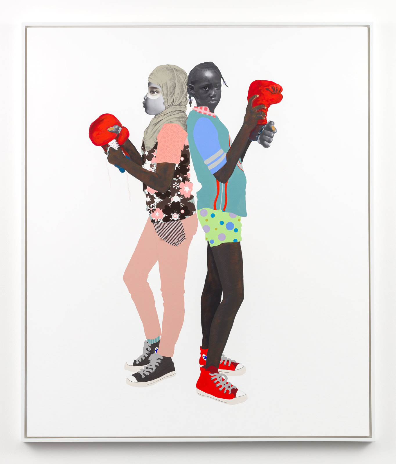 "<div class=""artist"">Deborah Roberts, 'Red, white and blue', 2018, Collection of SFMOMA, San Francisco, CA.</div>"