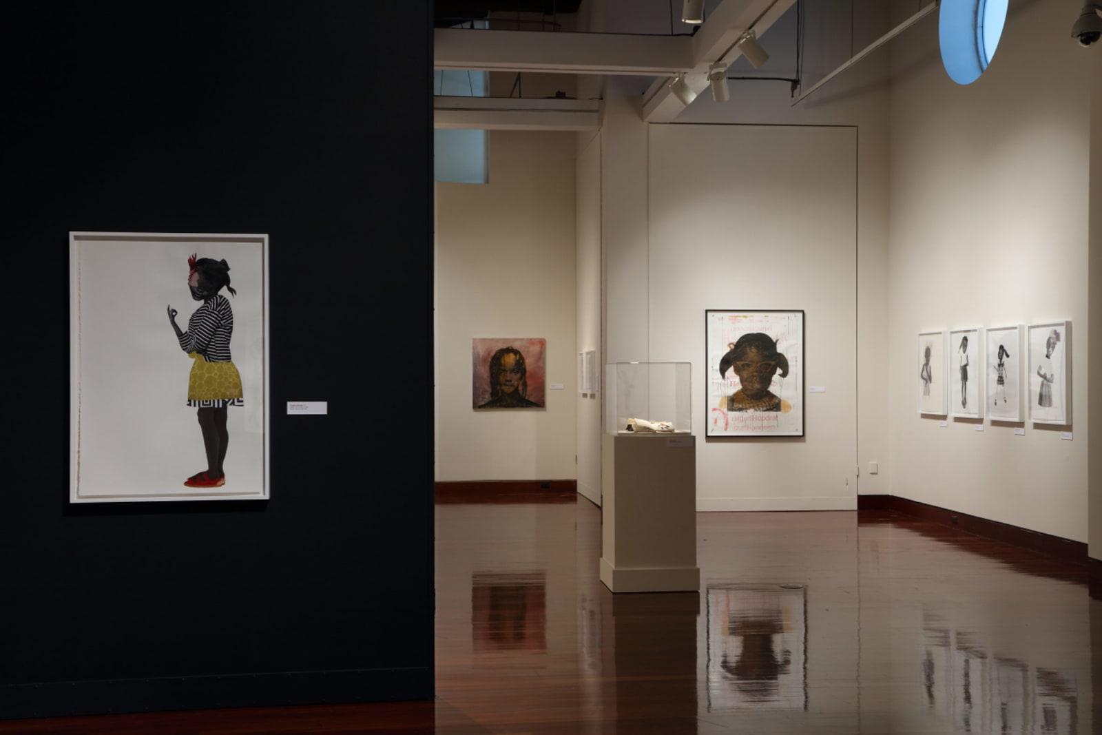 <p>Installation view: 'Deborah Roberts: The Evolution of Mimi', Spelman Museum,Atlanta, GA (2018).</p>