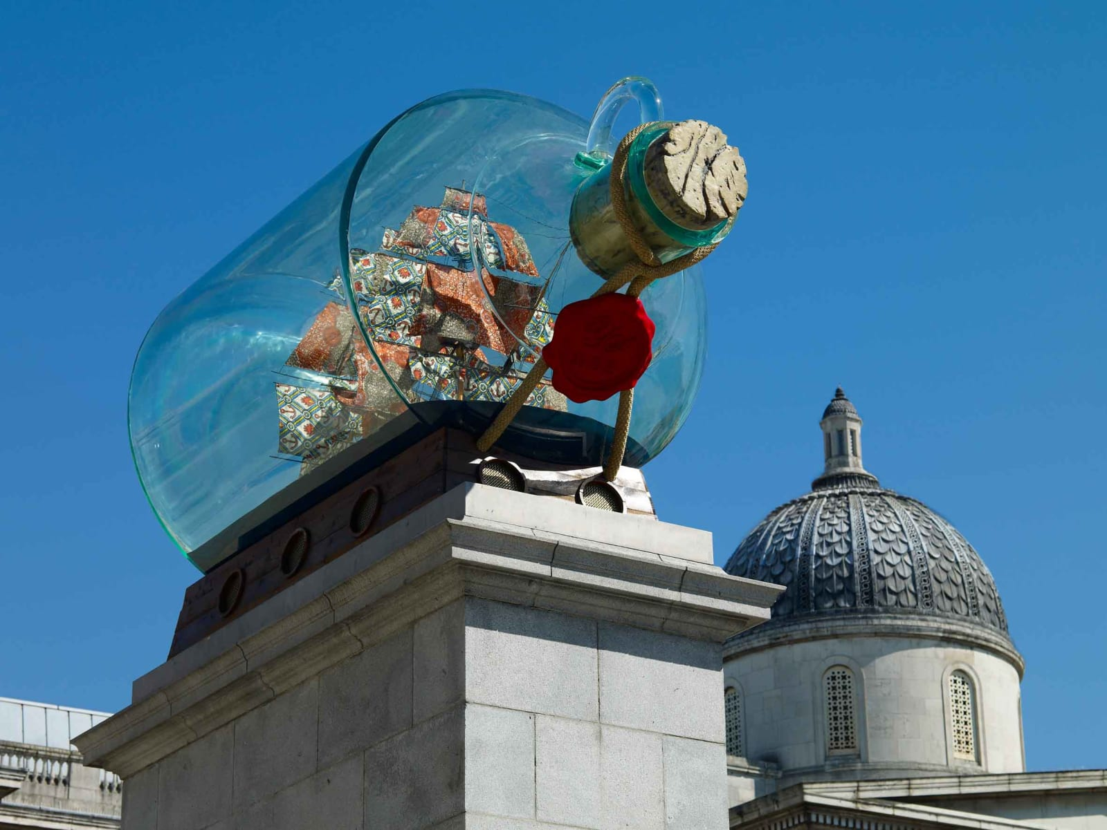 <p>Installation view:<i> </i><i>Nelson's Ship in a Bottle</i>, Fourth Plinth Commission, Trafalgar Square, London (2010-2012).</p>