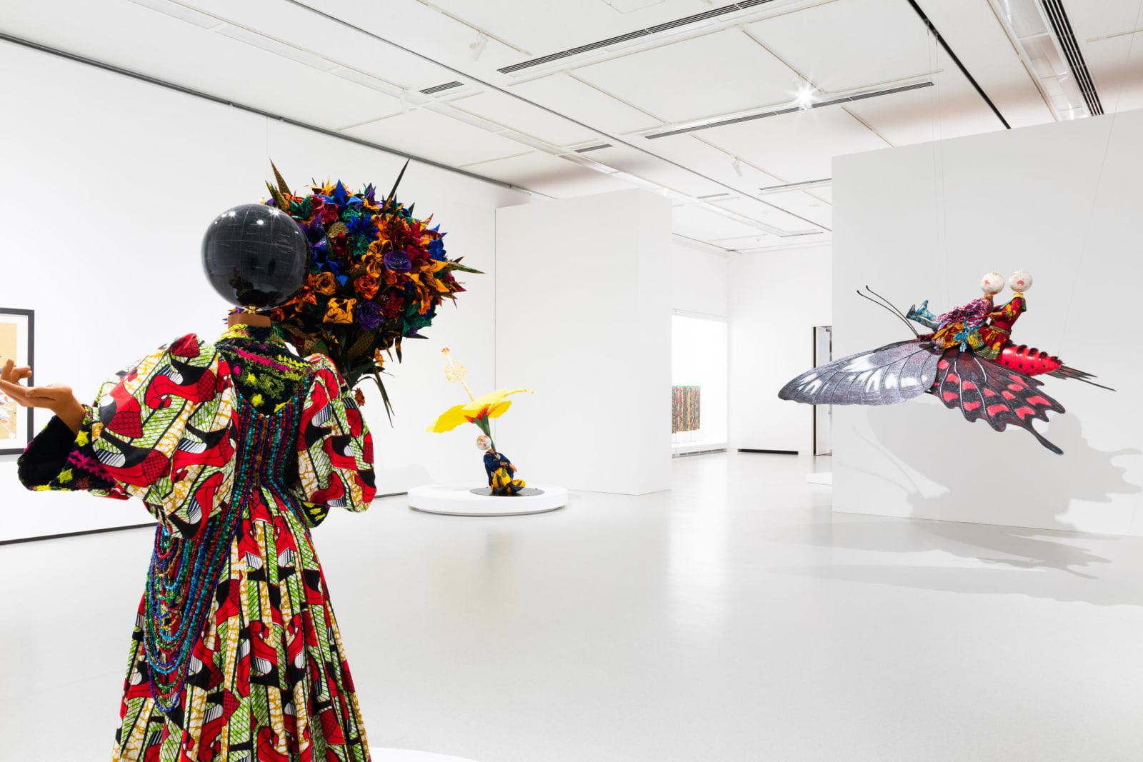 <p>Installation view: 'Yinka Shonibare MBE: Flower Power', Fukuoka Art Museum, Fukuoka (2019).</p>
