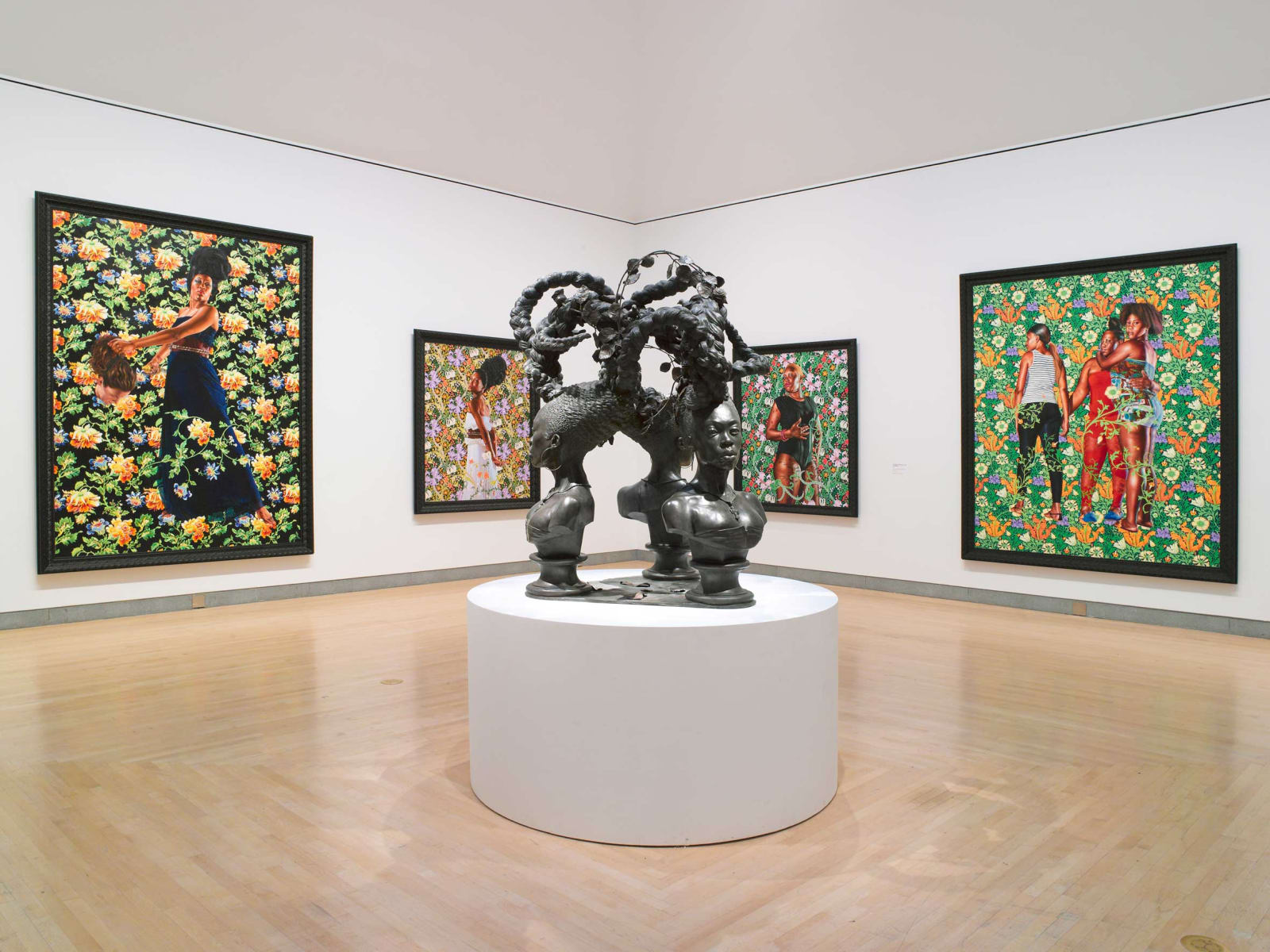 <p>Installation view: 'Kehinde Wiley: A New Republic', Brooklyn Museum, New York, NY (2015).</p>