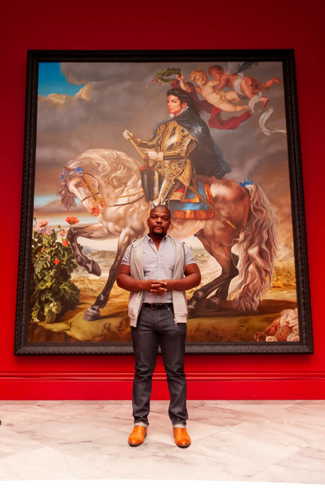 <p>Installation view: 'Michael Jackson: On The Wall', National Portrait Gallery, London (2018).</p>