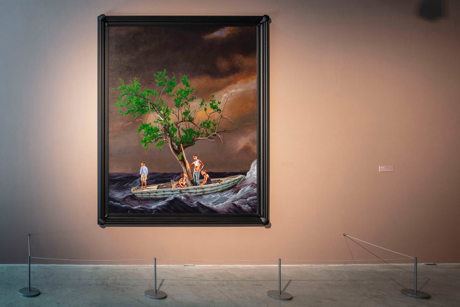 <p>Kehinde Wiley, 'Ship of Fools', 2017, Collection of the National Maritime Museum, London, on view in 'Kehinde Wiley: Ship of Fools', The Levinsky Gallery, The Box, Plymouth (2020). </p>