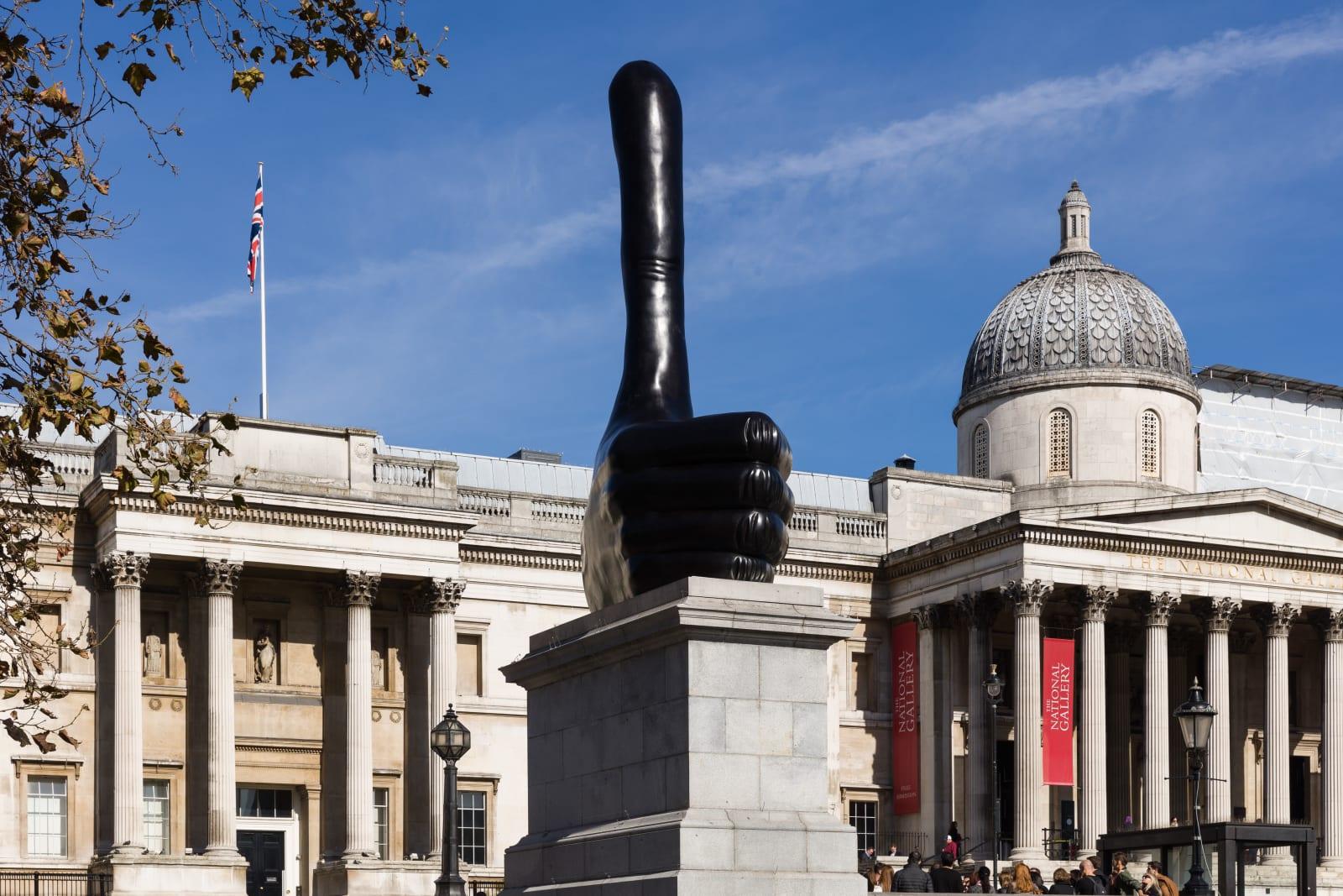 <p>Installation view: 'Really Good', Fourth Plinth Commission, Trafalgar Square, London (2016).</p>