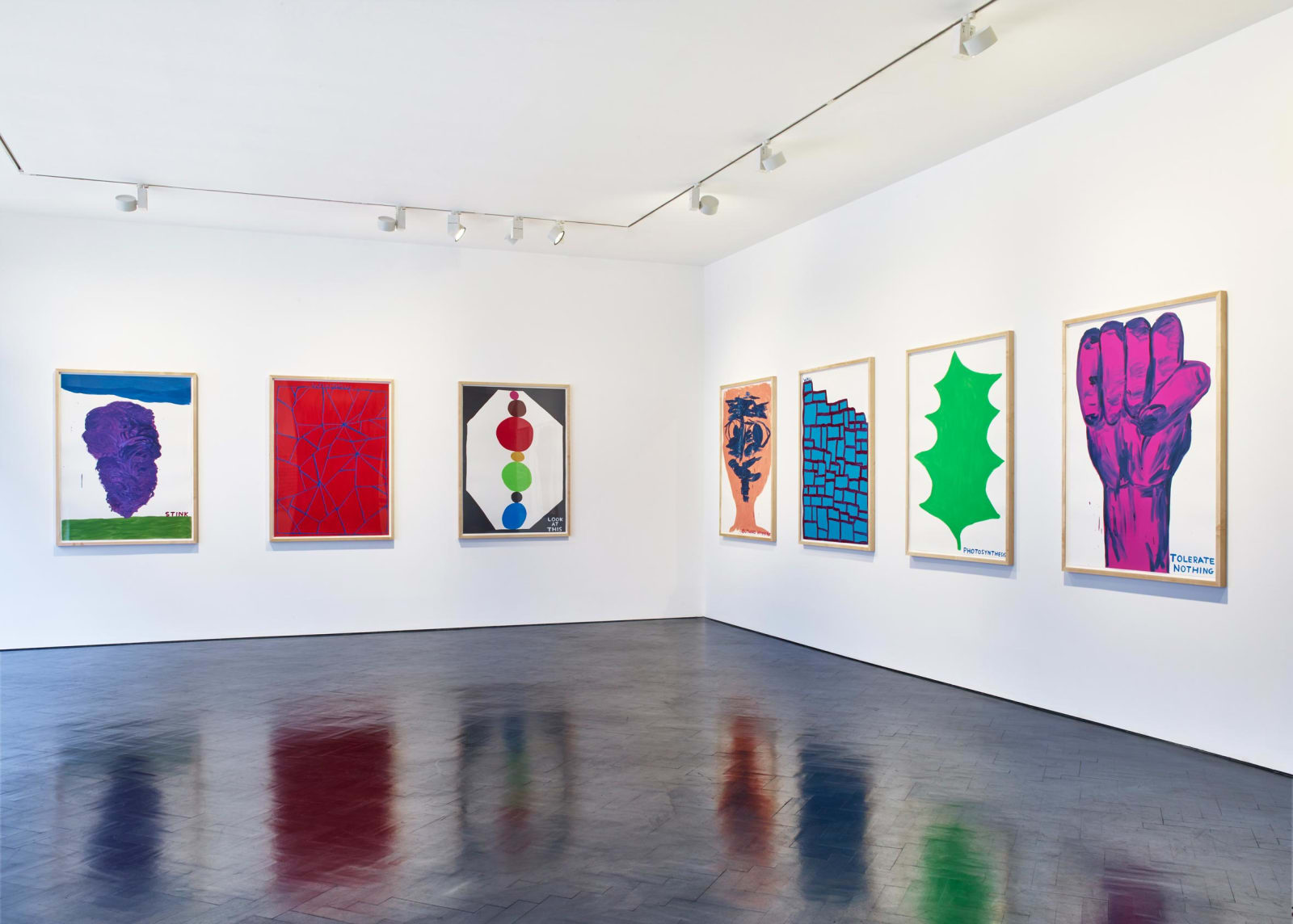 <p>Installation view: 'Drawings and Paintings', Stephen Friedman Gallery, London (2016).</p>