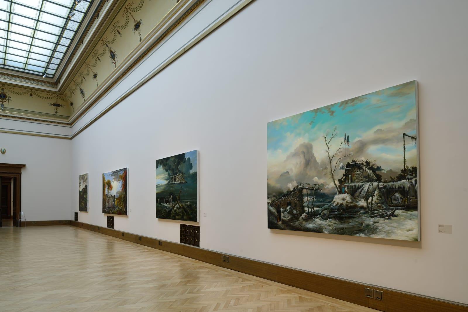 <p>Installation view: 'Beyond Reality: British Painting Today', Galerie Rudolfinum, Prague (2012).</p>